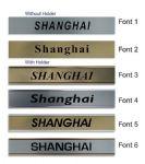 Shanghai Clock Name Plate |World Time Zone City Wall clocks Sign custom Plaque